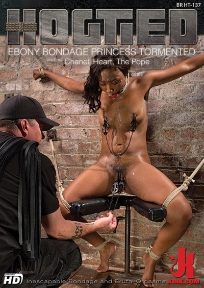 Hogtied: Ebony Bondage Princess Tormented